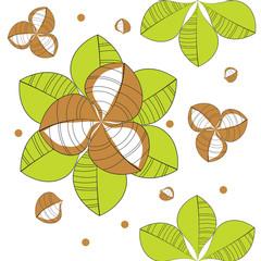 pattern of green