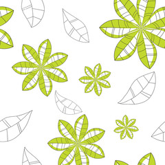 pattern of green