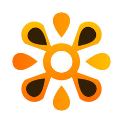 Abstract teamwork flower logo