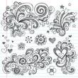 Back to School Style Sketchy Doodles Design Elements Set