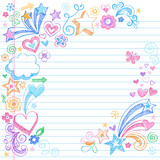 Sketchy Notebook Doodles Vector Illustration poster