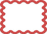 candy cane striped border