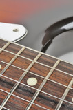 Electric Guitar Strings Close-up poster