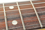 Electric Guitar Fingerboard (Fretboard) with Strings Close-up poster