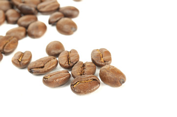 Coffee Beans on White Background\