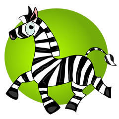 cartoon zebra vector character.striped cute animal