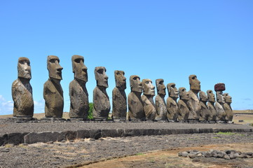 Easter Island Statue Line