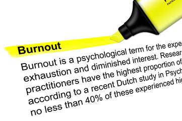 Highlighter yellow Burnout