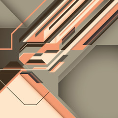 Retro abstract illustration.