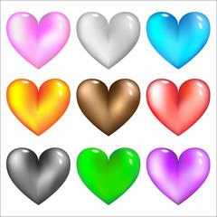 glass hearts icon