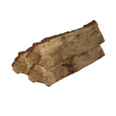 leña y madera aislada