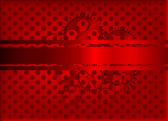 red gears background