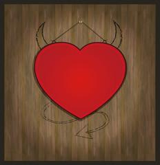 blackboard heart Valentine love red