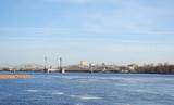 Neva river and Finland Railway Bridge poster