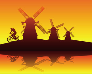 windmills and the rider