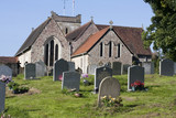 Selborne Church and graveyard in England