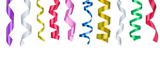 ribbon tape curled decoration christmas birthday holiday