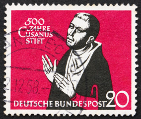 Postage stamp Germany 1958 Nicolaus Cusanus