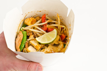 Thaifood in takeout box