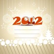 happy new year 2012 greeting card with vector elements.