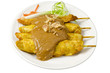 Asian cuisine chicken satay