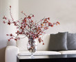 branches of blossoms - vase in modern living room