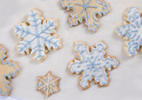 snowflake cookie background