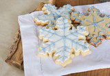 snowflake cookies ready to eat