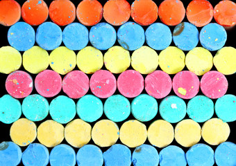 Colorful of chalk background