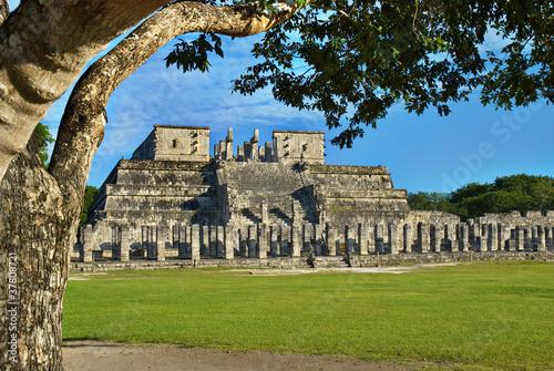 Temple of the Warriors in Chichen Itza near Cancun, Mexico - 37808721