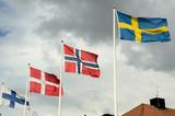 Scandinavian flags poster