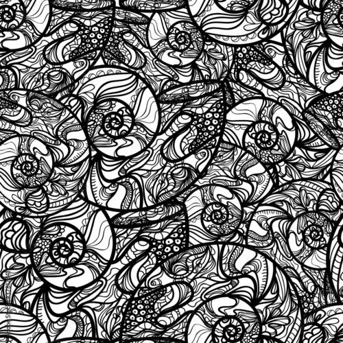 Seamless seashell pattern