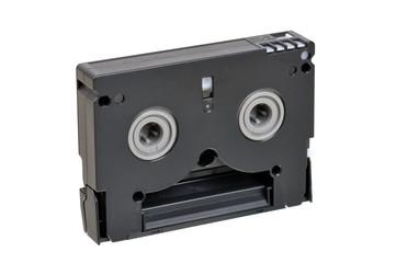 Mini DV cassette. back side