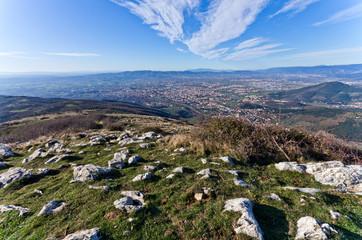 Toscana, panorama dai Monti della Calvana