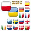 Fußball 2012 Teilnehmer Icons, Buttons