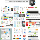 Web graphics mega collection - startup graphics poster