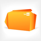 Background of polygonal origami box poster