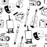 doodle art seamless pattern poster