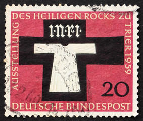 Postage stamp Germany 1959 Holy Coat of Trier