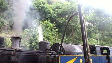 Steam engine at Nilgiri railway, India