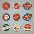 Set of vintage styled premium quality labels