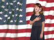 Little Girl Pledging Allegiance to the Flag