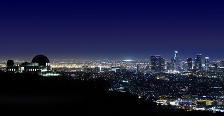Los Angeles Above Griffith Observatory Los Angeles, California
