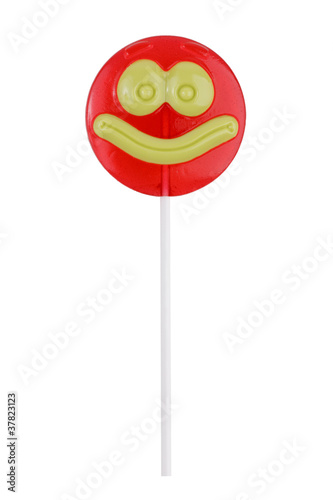 Lollipop, like a smiley face