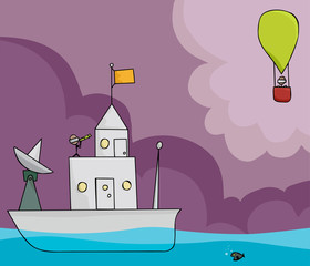 Ship and Balloon