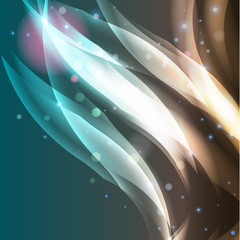 Abstract vector shiny waves