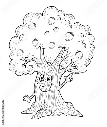Baum eiche natur holz tipp eicheln eichel - Baum comic bilder ...