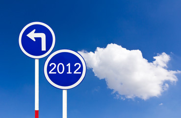 Curved Road Traffic Sign 2012