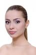 beauty concept; woman beauty portrait on white