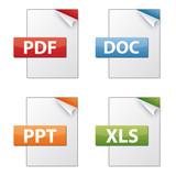 Fototapety Dateiendungen Dokumentenymbole - Sammlung 01